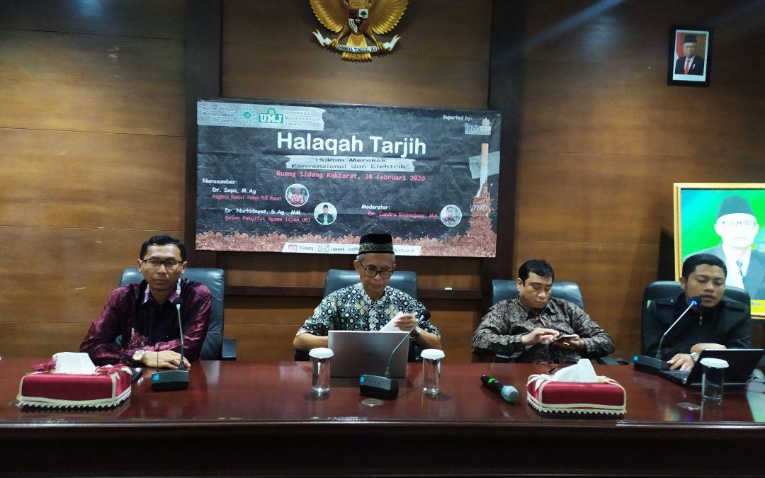 LPP-AIK UMJ Gelar Halaqoh Tarjih Bertajuk Hukum Merokok Konvensional dan Elektrik